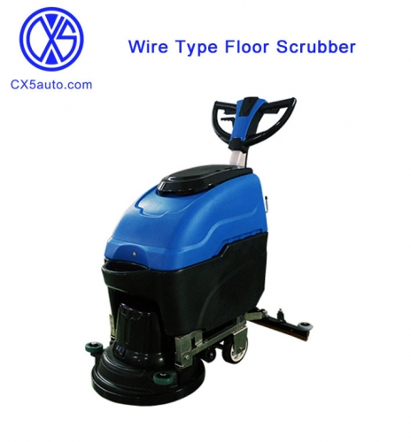 Wire Type Floor Scrubber with Butterfly Handle